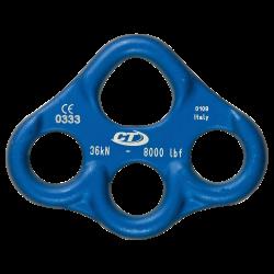 Ekipējuma plāksne ALU MULTIANC 3 holes Blue