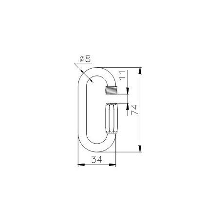 Karabīne Q-Link 8mm