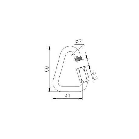Karabīne tērauda Q-Link D 7mm