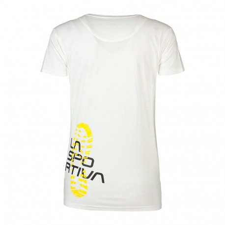 Footstep Tee Woman White