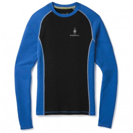 SW M'S Merino 200 Baselayer LS Bright blue Black