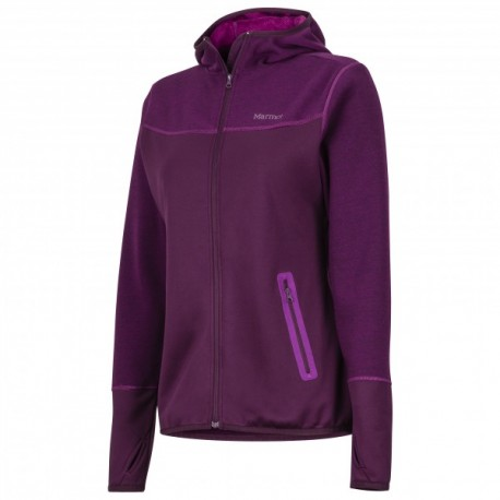 Wm's Sirona Hoody Dark purple Grape