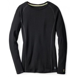 SW W'S Merino 200 Baselayer Crew Black