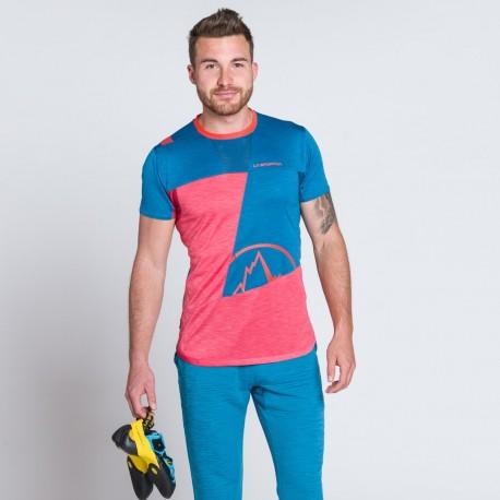 Workout T-Shirt M Opal Tropic blue