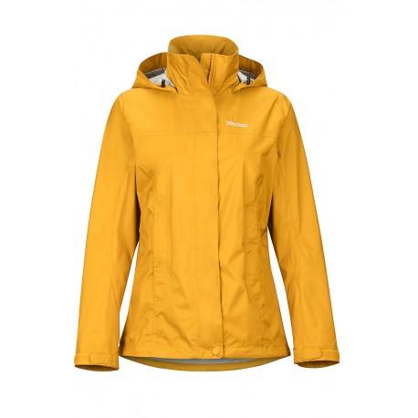 Jaka membr. Wms PreCip Eco Jacket Yellow gold