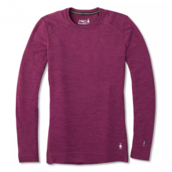 SW W'S Merino 250 Baselayer Crew Sangria Heather