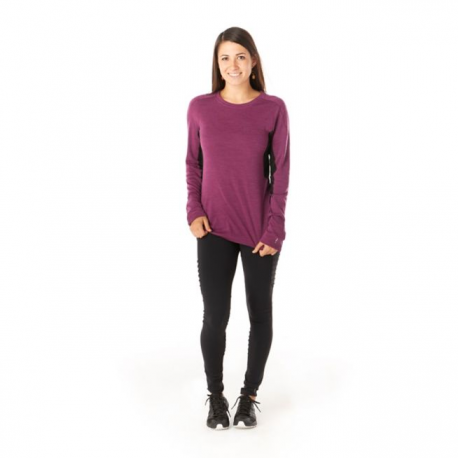 W'S Merino Sport 250 LS Sangria Heather
