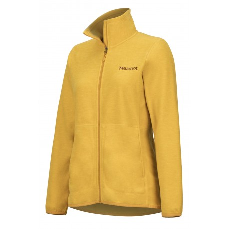 Wms Pisgah Fleece Jacket Yellow gold