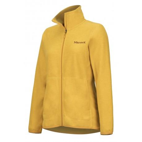 Wms Pisgah Fleece Jacket Yellow gold