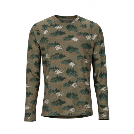 Midweight Harrier LS Crew Camping camo