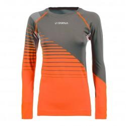 Termo krekls TUNE LS W Carbon Pumpkin