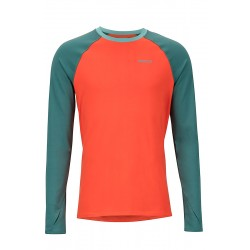 Termo krekls Midweight Harrier LS Crew Mars orange Mallard green