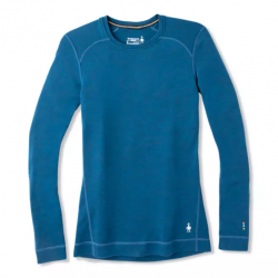 SW W'S Merino 250 Baselayer Crew Deep marlin Heather