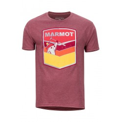 Krekls Retro Tee SS Burgundy Heather