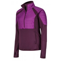 Jaka Wm's Furiosa 1/2 Zip Dark purple Grape