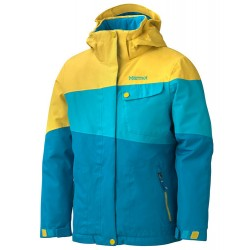 Girls Moonstruck Jacket Aqua blue Yellow vapor