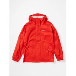 Girl's PreCip Eco Jacket Victory red