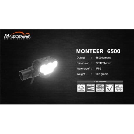 Velo lukturis MONTEER 6500, 6500 lum