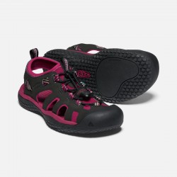 WS SOLR Sandal Raspberry Wine/Black