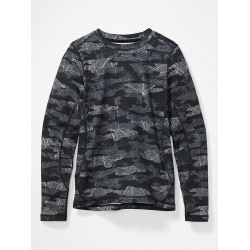 Kids Midweight Harrier Crew Black Haze Camo