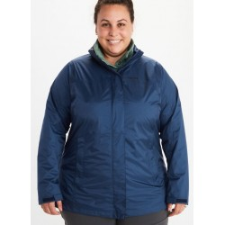 Jaka Wms PreCip Eco Jacket Plus Arctic navy