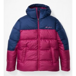 Wms Guides Down Hoody Wild Rose Arctic Navy