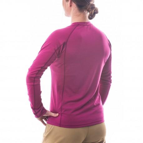 Termo krekls W MERINO Wool Plus Light LS Fuchsia