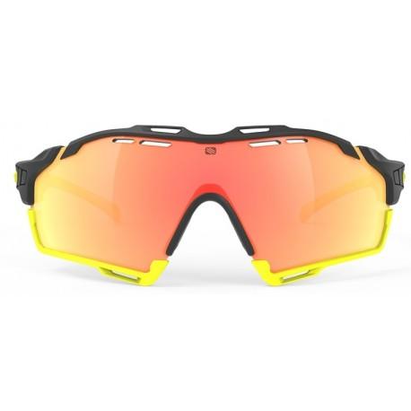 Brilles CUTLINE 3.kat BlackGloss Multilaser Orange