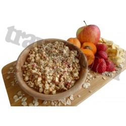 Tūristu pārtika Musli ar augļiem