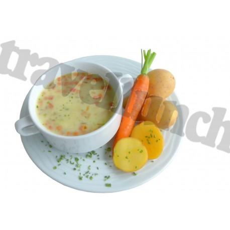 Tūristu pārtika Kartupeļu biezzupa