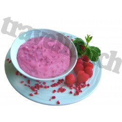 INSTANT DESSERT WITH RASPBERRIES