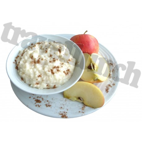 Deserts Rice pudding with apples and cinnamon