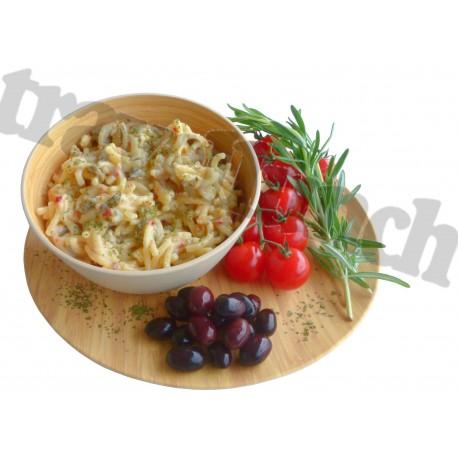 Tūristu pārtika Pasta ar olīvām