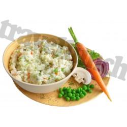 Tūristu pārtika Dārzeņu risoto bez glutēna