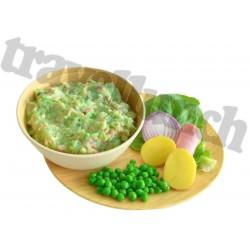 GREEN PEA MASH with HAM