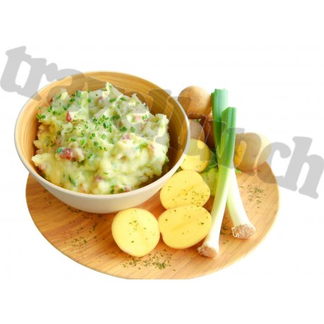 Tūristu pārtika MASHED POTATOES with Ham and Leek