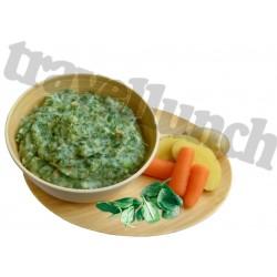 Tūristu pārtika SPINACH MASHED POTATOES - gluten free