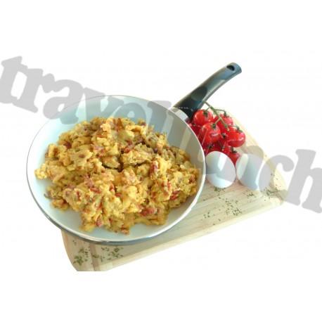 Tūristu pārtika Scrambled eggs