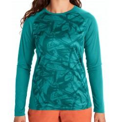 Wms Crystal Ls shirt Deep jungle Race line