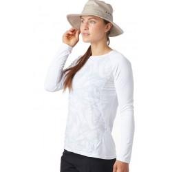 Wms Crystal Ls shirt White Race line