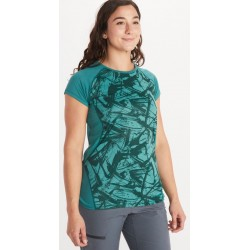 Wms Crystal SS shirt Deep jungle Race line