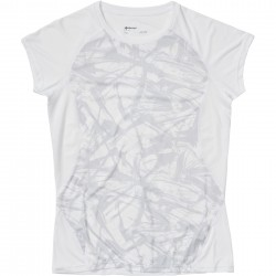 Wms Crystal SS shirt White race line