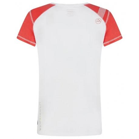 Krekls HYNOA T-Shirt W White Hibiscus