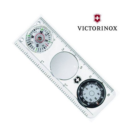 Kompass ar termometru un lineālu