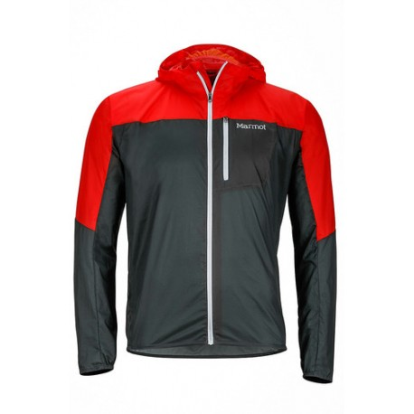 Vējjaka Air Lite Jacket Dark zinc Scarlet red