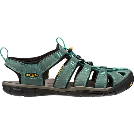 Sandales CLEARWATER CNX Leather Women Mineral blue Yellow