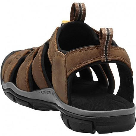 Sandales Clearwater CNX Leather Dark earth Black