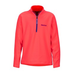 Girls Rocklin 1/2 Zip Bright pink