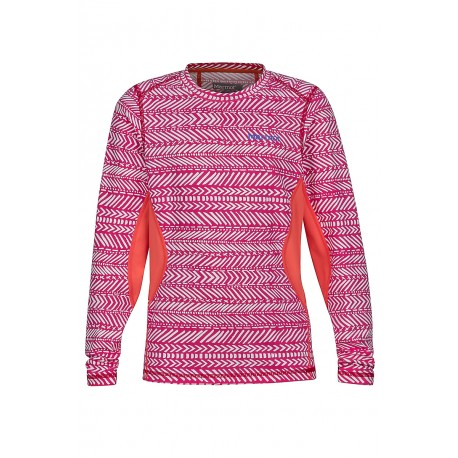 Termo krekls Girl's Lana LS Crew Bright Ruby Arrows Living Coral