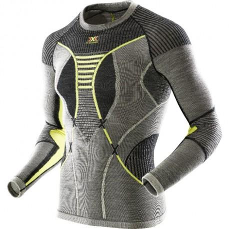 Termo krekls APANI Merino Black grey yellow
